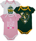 NCAA College Infant Girl's Baylor Bears 3 Piece Creeper Bodysuit Set