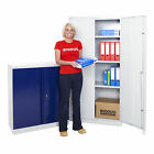 Metal Steel Cupboard Office Storage Filing Workshop Bisley Lockable - 2 Sizes