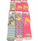 **REF195** Disney Princess Girl's 6 pack Non Skid Slipper Socks