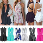 Sexy Women Chiffon Bandage Playsuit Summer Strap Backless Jumpsuit Shorts Romper