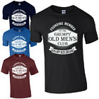 NEW Grumpy Old Men's Club T-Shirt - Funny Dad Grandad Fathers Day Joke Mens Top