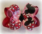 Minnie Mouse Valentine LOVE Double Layered Hair Bow Valentines Day Spikey Lush