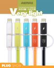 Remax Aurora 2 in 1 LED intelligent lights Cable Small Micro for iPhone Samsung