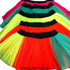NEON TUTU NETTED UNDER SKIRT DANCE FANCY DRESS COSTUME