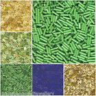 20g Miyuki Bugle Seed Beads 6x2mm Plain Twisted All Colours approx 800pcs