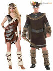 Adults Deluxe Barbarian Viking Costume Mens Warrior Fancy Dress Cavewoman Outfit