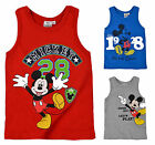 Boys Disney Mickey Mouse Character Sleeveless Kids Vest New Age 3 4 6 8