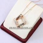 A1-P384 Fashion Rhinestone Necklace Pendant 18KGP Crystal