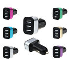 Universal Car 12V 24V 3Port USB DC Charger Adapter For iPhone Mobile/Cell Phone