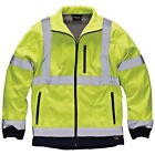 Mens Dickies Saturn High-vis Waterproof Two Tone Soft Shell Jacket Size S-3XL
