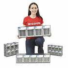 Tool Tilting Parts Bins Stackable & Wall Mounted DIY Workshop Garage Unit BiGDUG