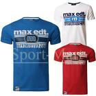 Mens Max Edition Graphic Puff Print Short Sleeve Crew Neck Cotton T-Shirt