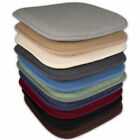 "Memory Foam Honeycomb Non-Slip Back Chair/Seat 16"" x 16"" Cushion Pad 2 or 4 Pack"
