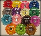Gerbera Flower Clip Gemstone Hair Bow Party Photo Prop Baby Gerber Hairbows