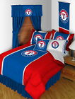 Texas Rangers Bed in Bag Drapes Valance Twin Full Queen King Size