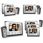 "7"" TFT LCD Wired Video Door Phone Doorbell Entry Intercom Security System Camera"