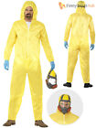 Adult Breaking Bad Costume Walter White Hazmat Yellow Chemical Suit Fancy Dress
