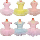 Girls Kids Leotard Ballet Tutus Gymnastic Dancewear Costume Dress 3-8Y Clothing