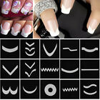 15 Style/Set French Stencil Nail Art Tips Form Guide Sticker Polish Manicure DIY