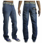 NEW MENS LATEST IN ENZO EZ15 DESIGNER JEANS FREE BELT INCLUDED REDUCED PRICE!!