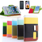Protector+Flip ID Card Wallet Leather Purse Stand Case Cover for iPhone 5 5G HK