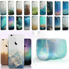 Fashion 3D Nature Scenery Ultra Thin TPU Case Cover For Apple iphone 5 6 6S Plus