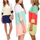 Plus Size 10-20 Women Ladies Long Sleeve Sexy Mini Top Dress Casual Skirt Summer