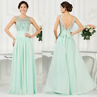 Womens Ladies Evening Long Dress Ball Gowns Wedding Prom Chiffon Formal Dresses