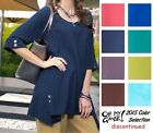 OH MY GAUZE Cotton MARCY Long Tunic Top 1 (M/L/XL) 2 (XL/1X/2X) 2015 DISC COLORS