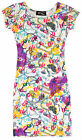 Girls Chain Print Cap Sleeve Dress Kids Bodycon Midi Dresses New Ages 7-13 Years