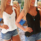 Plus Size Women Black White Summer Casual Vest Shirt Tops Blouse Ladies Top Tank