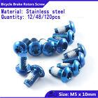 M5x10mm Bicycle bike Head Disc Brake Rotors Screws Bolts nuts Torx T25 blue