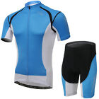 K US XINTOWN Mens Cycling Suits Blue Jerseys Shorts Bicycle Short Sleeve S-XXXL