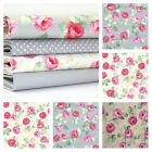 ASCOT ROSE - VINTAGE ROSE FLORAL 100% COTTON FABRIC roses patchwork fashion