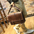 Vintage Men's Leather Business bag Briefcase Casual Messenger Shoulder Bags