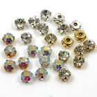 *AAA SEW ON CLEAR OR AB CRYSTAL GLASS RHINESTONES 4 TYPES & 6 SIZES DIAMANTE GEM