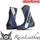 DAYTONA SECURITY EVO III 3 BLUE 2 PIECE RACE TRACK SPEC MOTORCYCLE BOOTS
