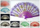 New Spanish Chinese Japanese Vintage Lace Folding Flowers Hand Fan Multi-Colors
