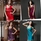 Women's 100% Silk Chemise Babydoll Full Slips Sleepwear 16 Momme Charmeuse AS304