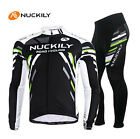 Men Cycling Bicycle Riding Outdoor Sports Wear Long Sleeve Bike Jersey Set M-2XL