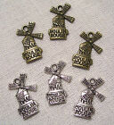 LOT de 3 CHARMS BRELOQUES - MOULIN ROUGE PARIS FRANCE **15 x 22mm**