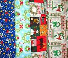 Clearance CHRISTMAS #6 Fabrics,Sold Individually,Not As a Group,By The Half Yard