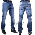 Peviani mens jeans, blue stonewash str g urban star wash denim pants hip hop tim