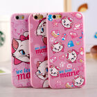 Cute New cartoon disney Marie Cat pink soft case cover for apple iphone6 6S plus