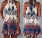 Sexy Women Summer Boho Maxi Evening Party Dress Beach Dress Sundress mini Dress