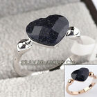 Women's Fashion Heart Ring Simulated Gemstone 18KGP 5.5-9
