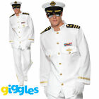 Mens Captain Costume Sailor Navy Officer and Gentleman Adult Fancy Dress Outfit