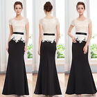 Ever Pretty Women's Black Long Formal Evening Vintage Prom Maxi Dress 08516