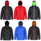 New Mens 2786 Full Zip Front Closed Pocket Bodywarmer Hooded Jacket Size XS-2XL