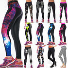 Womens 3D Colorful Print Leggings Stretchy Yoga Fitness Sexy Casual Pencil Pants